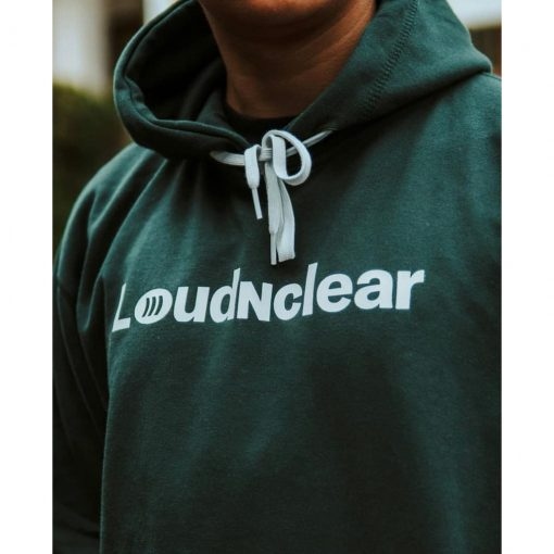 LOUDANDCLEAR - Hoodie Font White loudandclear official - Green